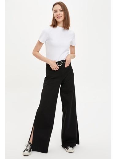 DeFacto Wide Leg Pantolon Siyah